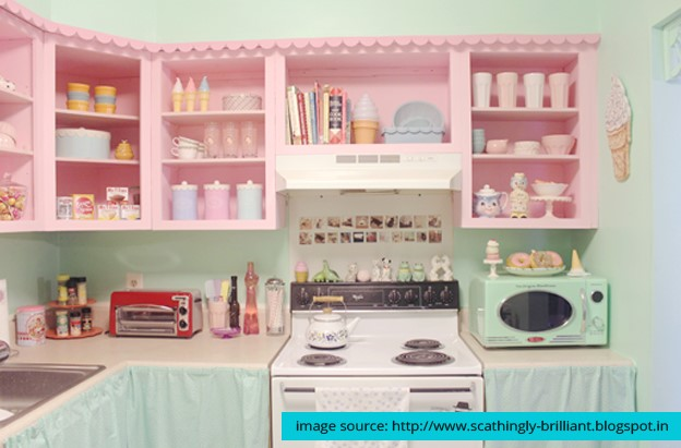 Pastel colors in Kitchen Appliances are making a great comeback.