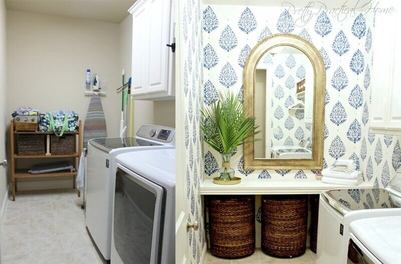 inspirational laundry room makeover