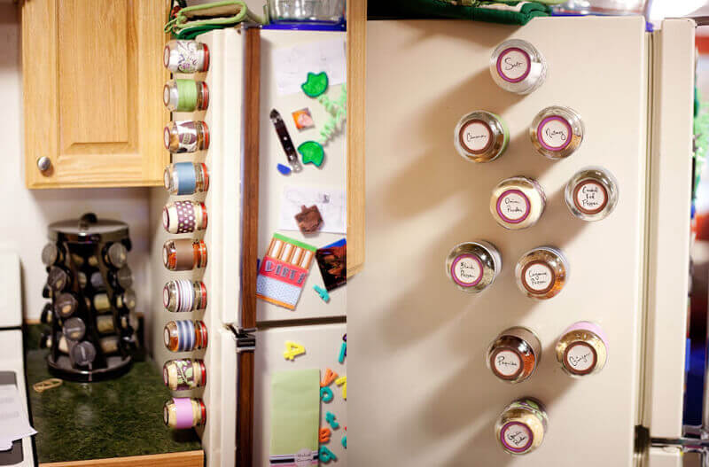 Turn Your Fridge Into A Spice Rack