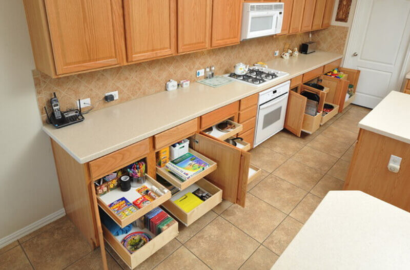 Add Rolling Shelves In Your Cabinets