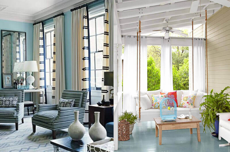 Curtains-With-Contrasting-Trim-&-A-Breezy-Look