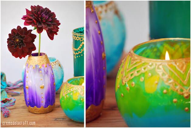 Moroccan Candle Holders DIY Idea