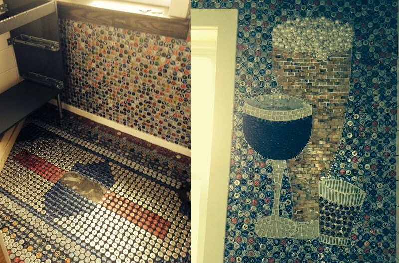 Bottle Cap Floors and Walls