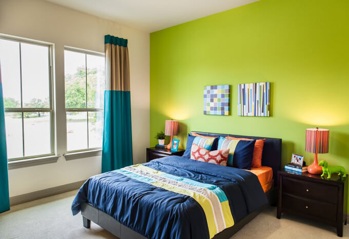lime bedroom
