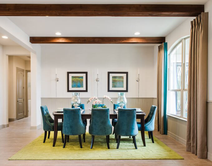 teal lime dining room