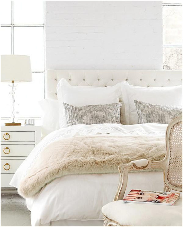 Beautiful Shabby Chic White bedding