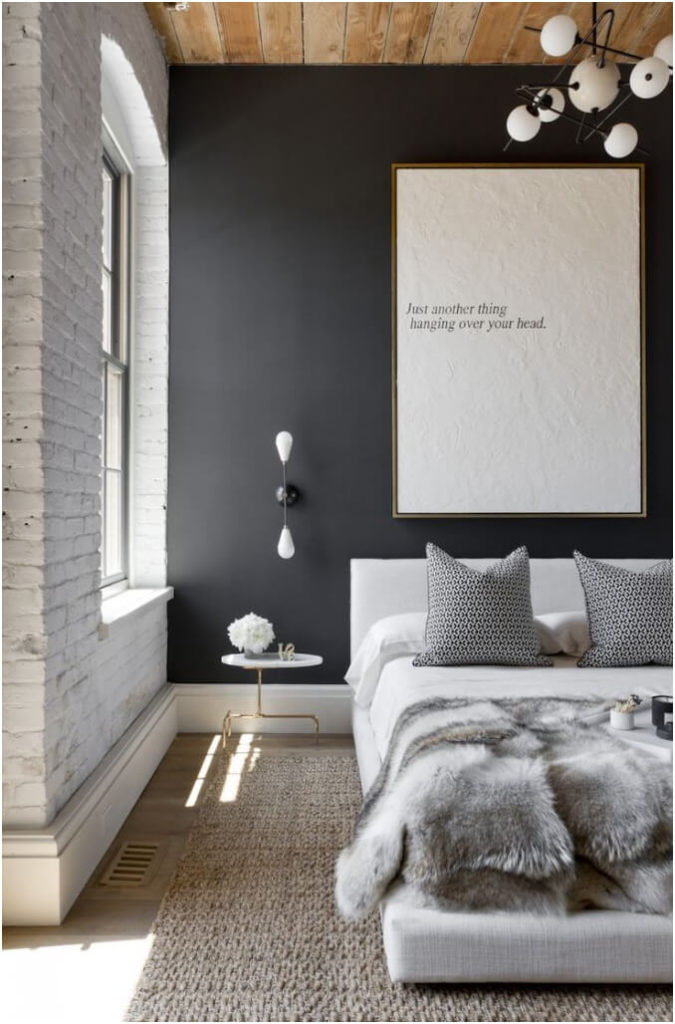 Black and White Modern Bedroom Inspiration