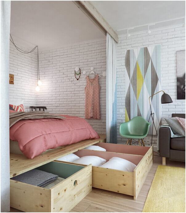 A Cute Small Home Interior with Beautiful Functionalities