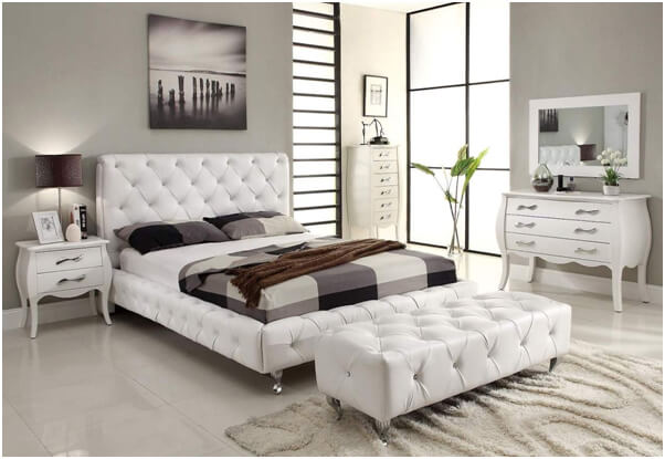 Modern White Bedroom Design Inspiration