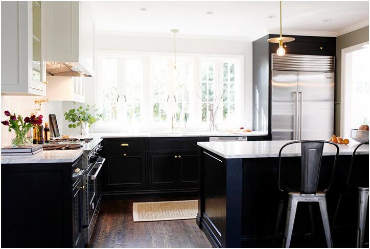 black and white kitchen Inspiration