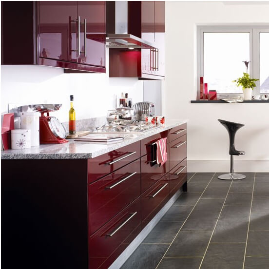 Burgundy-and-Gray-Kitchen-Idea