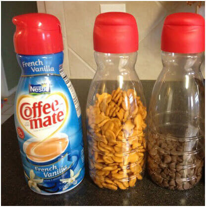 Small-Snacks-in-Coffee-Creamer-Containers