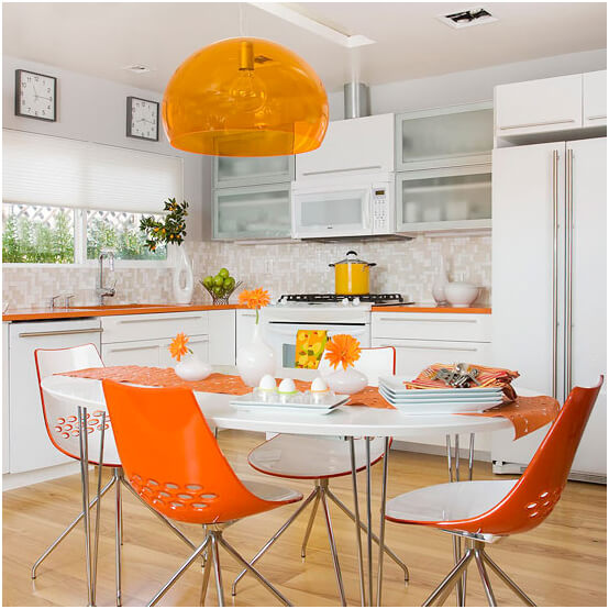 white-and-orange-color-kitchen