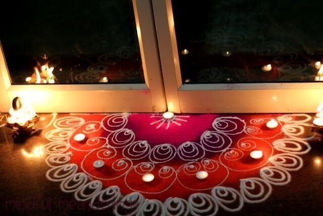 Decoartion for diwali amazing diwali decoration ideas for Door design rangoli