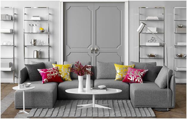 gray interior design, gray interior paint, interior paint colors