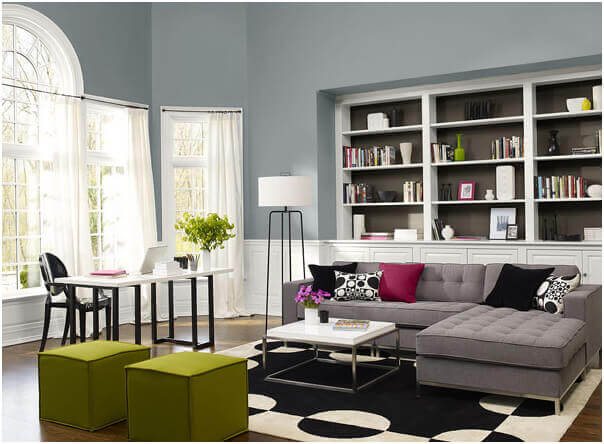 gray interior design, gray interior paint, interior paint colors