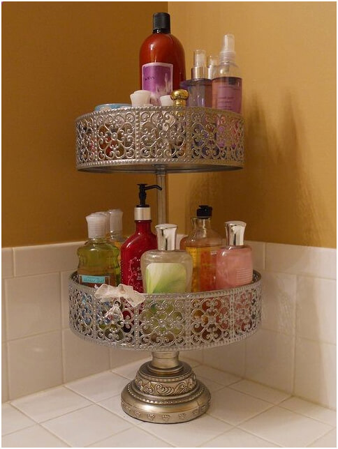 Cake-Stand-Holder-for-Shampoo-and-Shower-Gel