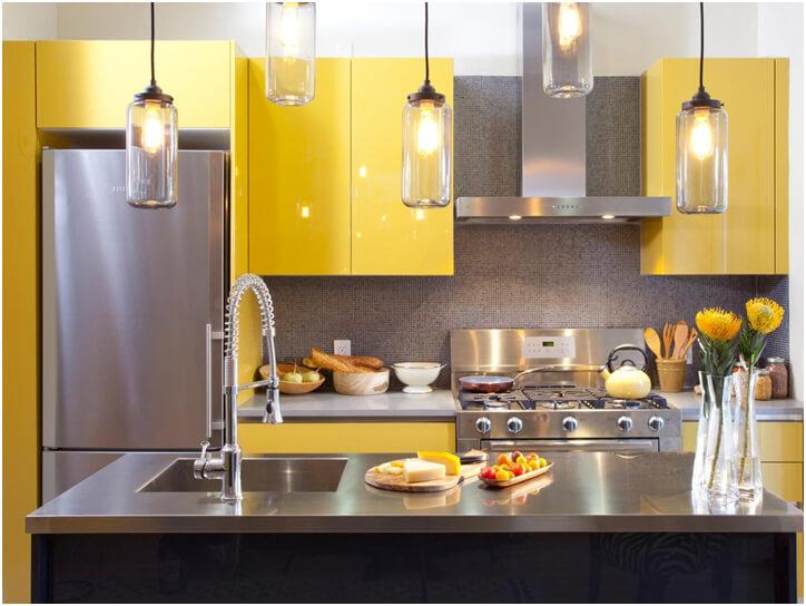 Yellow Color Kitchen Idea